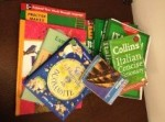 [Books and materials used in my efforts to help myself and the kids learn Italian]