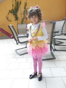 For book-character-day at school Princess Imagination went as Fancy Nancy