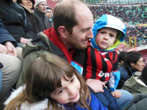 Our first AC Milan match at San Siro.